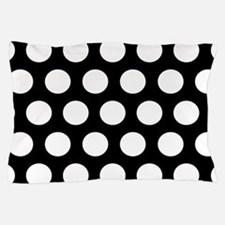 #Black And White Polka Dots Pillow Case