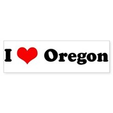 I Love Oregon - Bumper Bumper Sticker