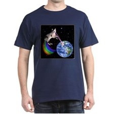 Laser Rainbow Space Cat T-Shirt