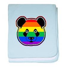 panda head pride baby blanket