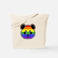 panda head pride Tote Bag