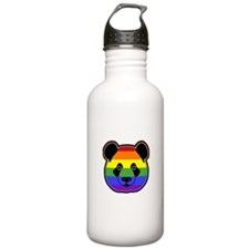 panda head pride Water Bottle