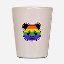 panda head pride Shot Glass