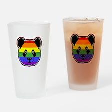 panda head pride Drinking Glass
