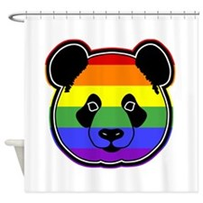 panda head pride Shower Curtain