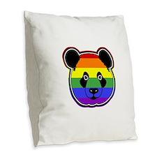 panda head pride Burlap Throw Pillow
