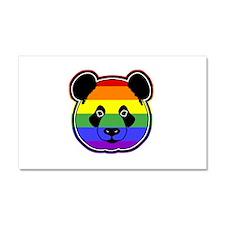 panda head pride Car Magnet 20 x 12