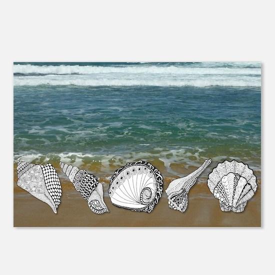 Seashell Beach Art Postcards (Package of 8)