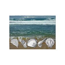 Seashell Beach Art 5'x7'Area Rug