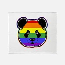 panda head pride 2 Throw Blanket