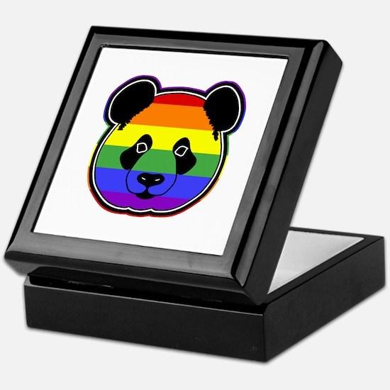 panda head pride 2 Keepsake Box