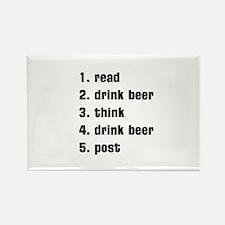 drink beer Rectangle Magnet