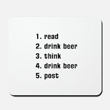 drink beer Mousepad