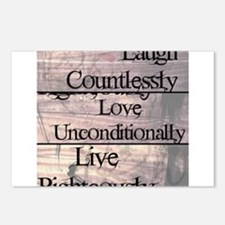Live, Love, Laugh Postcards (Package of 8)