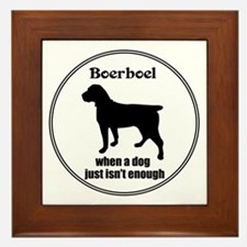 Boerboel Enough Framed Tile