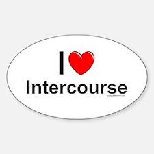 Intercourse Sticker (Oval)