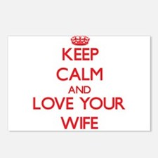 Keep Calm and Love your Wife Postcards (Package of