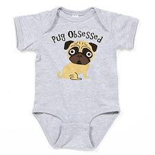 Pug Obsessed Baby Bodysuit