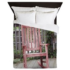 Red Rocking Chair Queen Duvet