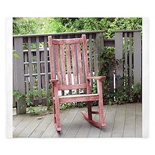 Red Rocking Chair King Duvet