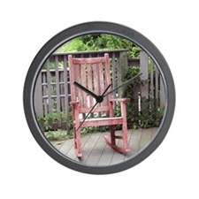 Red Rocking Chair Wall Clock