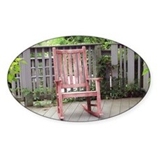 Red Rocking Chair Decal