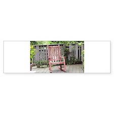 Red Rocking Chair Bumper Sticker