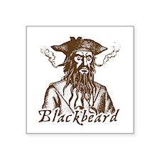 """Unique Blackbeard Square Sticker 3"""" x 3"""""""