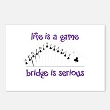 Life Is A Game bridge is serious Postcards (Packag