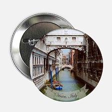 """Bridge of Sighs, Venice Italy Souveni 2.25"""" Button"""