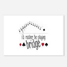 id rather be playing bridge Postcards (Package of