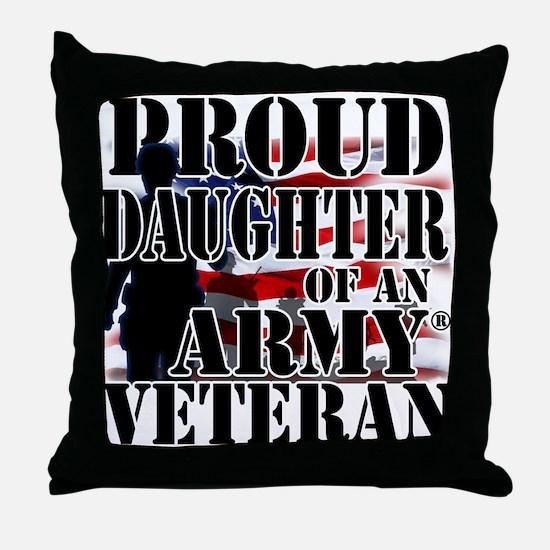 ProudDaughter Throw Pillow