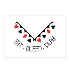 Eat Sleep Play Postcards (Package of 8)
