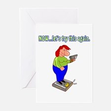 A Woman's Scorn Greeting Cards (Pk of 10)
