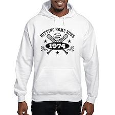 Baseball Birthday 1974 Hoodie