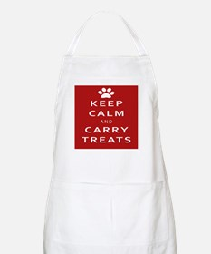 Keep Calm And Carry Treats Paw Print Apron
