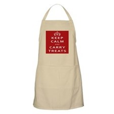 Keep Calm And Carry Treats Hsjc Logo Apron