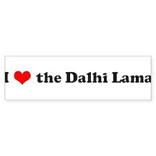 I Love Dalai Lama Bumper Bumper Sticker