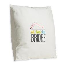 eat.sleep.play BRIDGE Burlap Throw Pillow