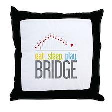 eat.sleep.play BRIDGE Throw Pillow