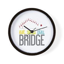 eat.sleep.play BRIDGE Wall Clock