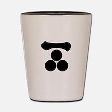 Kanji numeral one and three stars Shot Glass