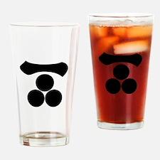 Kanji numeral one and three stars Drinking Glass