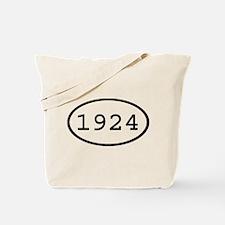 1924 Oval Tote Bag