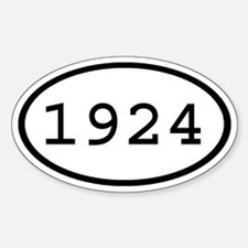 1924 Oval Oval Decal