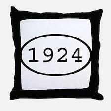 1924 Oval Throw Pillow