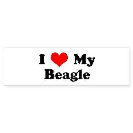 I Love My Beagle Bumper Sticker