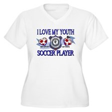 I LOVE MY YOUTH SOCCER PLAYER Plus Size T-Shirt