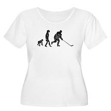 Distressed Hockey Evolution Plus Size T-Shirt