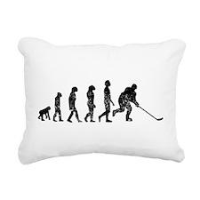 Distressed Hockey Evolution Rectangular Canvas Pil